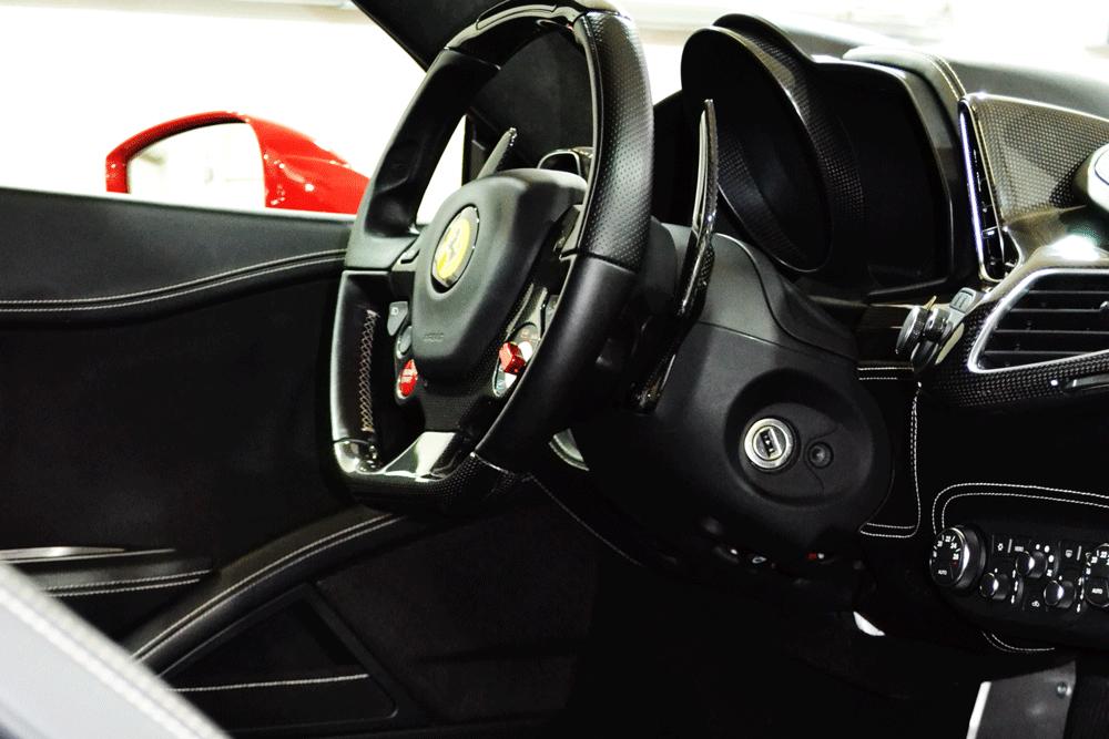 Innenraum eines Ferrari