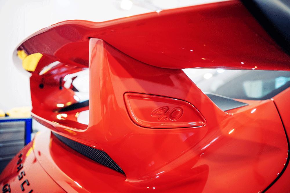 Heckspoiler eines Porsche GT3